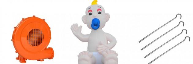 Opblaas Baby met speen